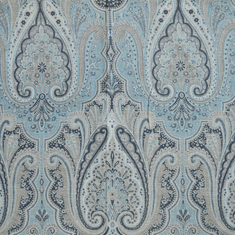 Waverly Paisley Aglow - Pewter 679451 Upholstery Fabric