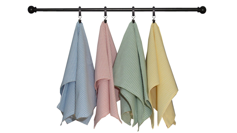 Spring Seasonal Towel Set of 4 - Mini Checks