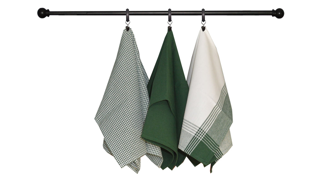 St. Patrick's Day Seasonal Towel Set of 3 - Green and White