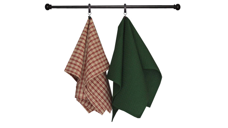 Patriotic Seasonal Towel Set of 2 - Thin Stripes on Cream