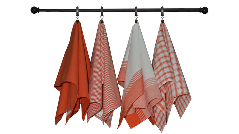 Variety Towel Set - Orange Set of 4