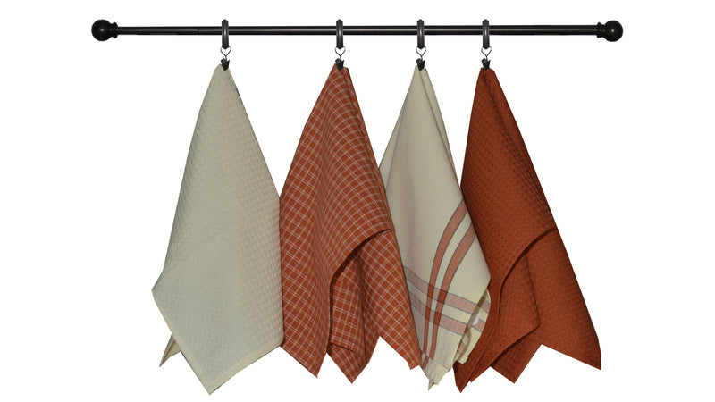 Variety Towel Set - Bright Red Set of 4