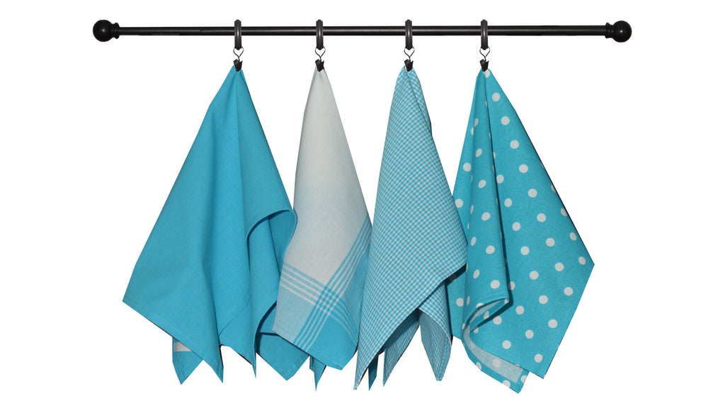 Variety Towel Set - Turquoise Set of 4