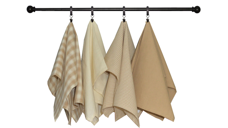 Variety Towel Set - Wheat and Cream Set of 4
