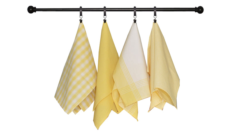 Variety Towel Set - Red and Teadye Set of 4