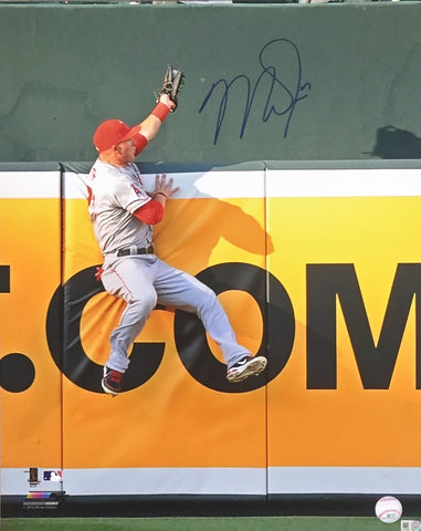 Mike Trout Autographed 16x20 (Catch)