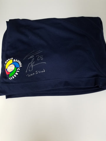 Curtis Granderson Game Used WBC Autographed Shorts