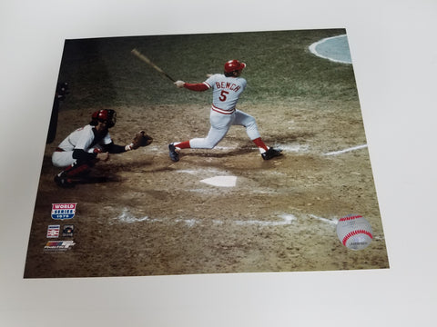 UNSIGNED Johnny Bench (batting) 8x10