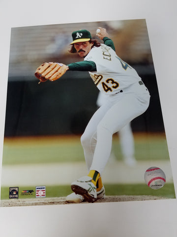 UNSIGNED Dennis Eckersley (pitching2) 8x10