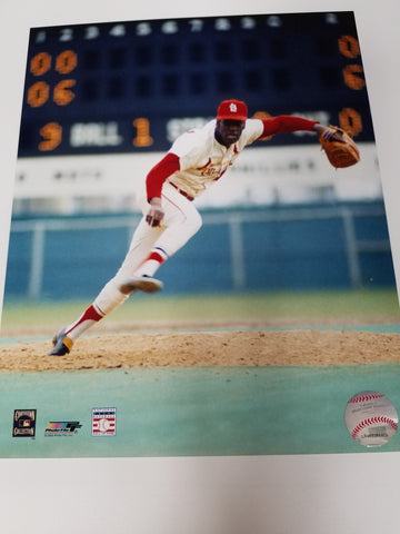 UNSIGNED Bob Gibson (catching) 8x10