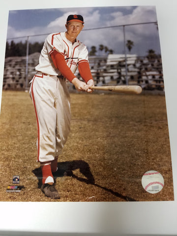 UNSIGNED Red Schoendinst (batting) 8x10