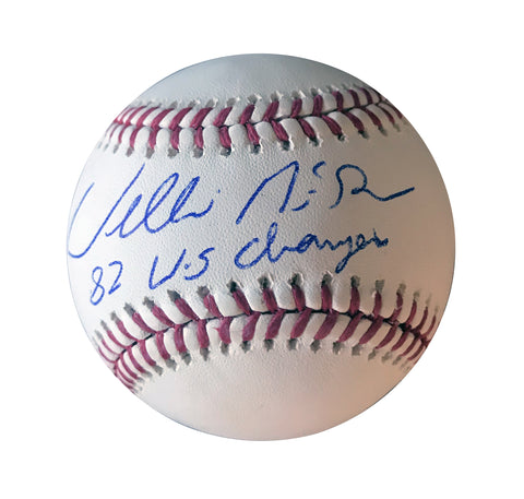 "Willie McGee "" 82 WSC"" Autographed Offical Major League Baseball"