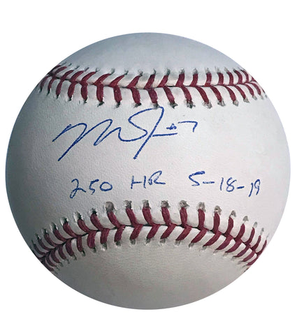 "Mike Trout Autographed ""250th HR 5-18-19"" Baseball"
