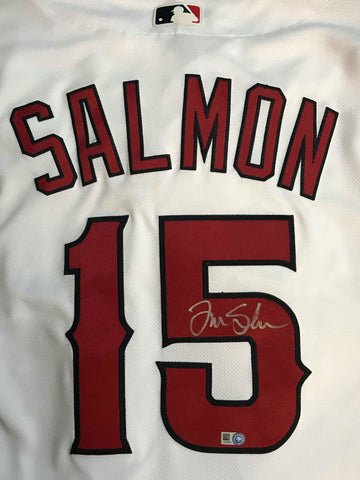 Tim Salmon Autographed Authentic Los Angeles Angels Jerseys