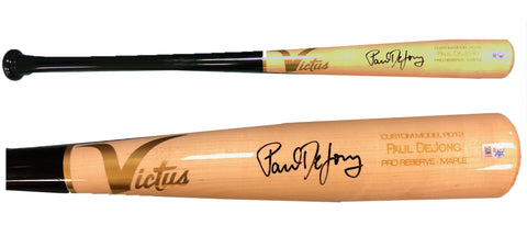 Paul DeJong Autographed Game Model Victus Bat