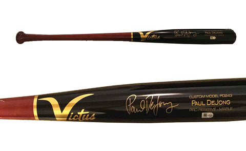 Paul DeJong Autographed Game Model Victus Bat - Black/Red