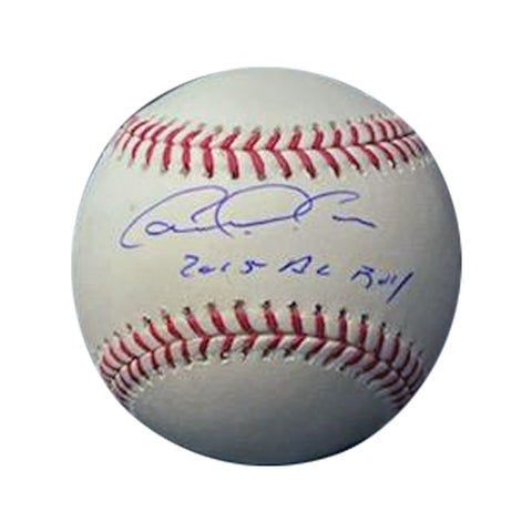 "Carlos Correa Autographed Baseball with ""2015 AL ROY"" Inscription"