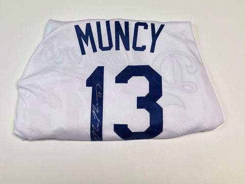 Max Muncy Autographed Dodgers Authentic Jersey