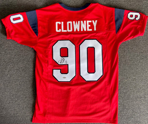Jadeveon Clowney Autographed Texans Custom Red Jersey