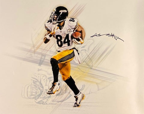 "Antonio Brown Autographed ""Graphic"" Metallic Photo"