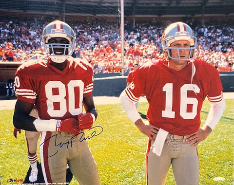 Jerry Rice Autographed 49ers w. Joe Montana 16x20