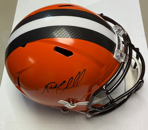 Nick Chubb Autographed Full Size Riddell Replica Cleveland Browns Helmet