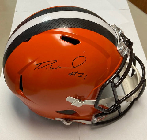 Denzel Ward Autographed Full Size Riddell Cleveland Browns Replica Helmet