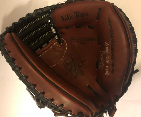 "Buster Posey Autographed ""2010 NL ROY"" Catchers Mitt"