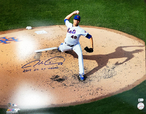 "Jacob deGrom Autographed 16x20 Photograph with ""2019 NL Cy Young"" Inscription"