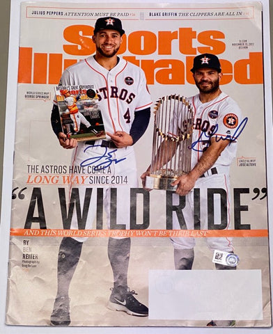 George Springer and Jose Altuve Autographed Sports Illustrated