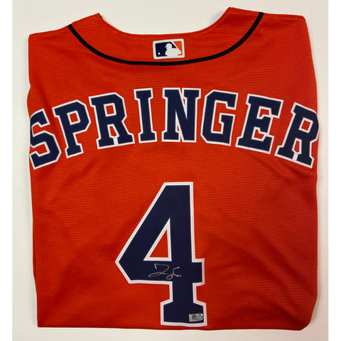 George Springer Autographed Orange Astros Replica Jersey