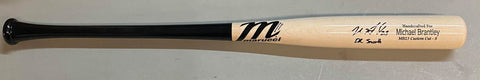 "Michael Brantley Autographed ""Dr. Smooth"" Game Model Blonde Marucci Bat - Beckett Authenticated"