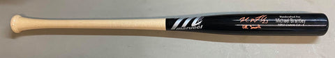 "Michael Brantley Autographed ""Dr. Smooth"" Game Model Black Marucci Bat - Beckett Authenticated"