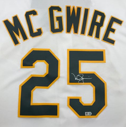 Mark McGwire Autographed Athletics Replica Jersey