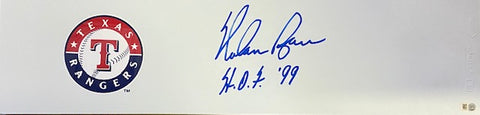 "Nolan Ryan ""HOF"" Autographed Rangers Pitching Rubber"