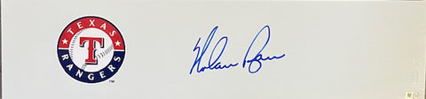 Nolan Ryan Autographed Rangers Pitching Rubber