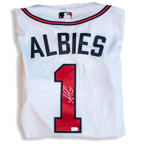 Ozzie Albies Autographed Atlanta Braves Authentic Home White Jersey