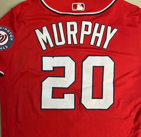 Unsigned Daniel Murphy Nationals Red Jersey