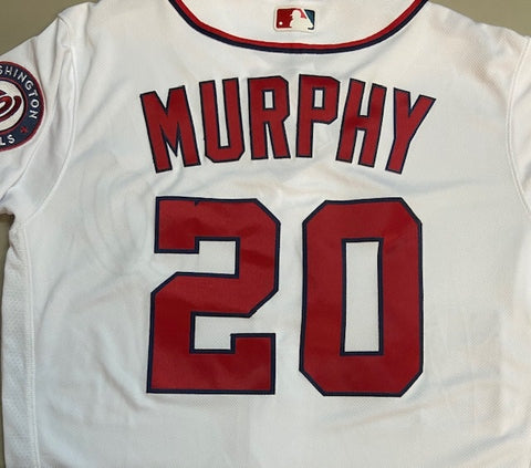Unsigned Daniel Murphy Nationals White Jersey
