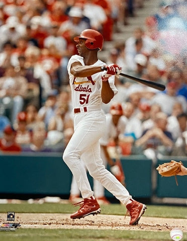 UNSIGNED Willie McGee Red and White 16X20