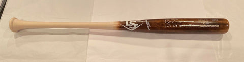 Ryan Zimmerman Autographed Game Model Louisville Slugger Bat with 2019 WS Champs Inscription