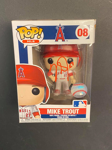 Mike Trout Angels Autographed Funko Pop Damaged (Option 2)