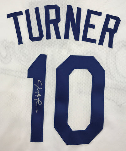 Justin Turner Autographed White Dodgers Jersey