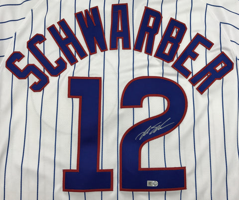 Kyle Schwarber Autographed White Cubs Jersey