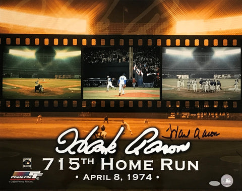 Hank Aaron Autographed 16x20 Photo (715th Home Run)