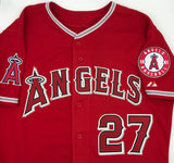 Mike Trout Autographed Red Angels Jersey