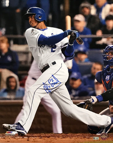 Alcides Escobar Autographed 16x20 Photo (Batting)