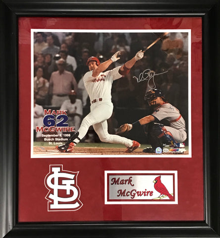 Mark McGwire Autographed Framed Photo with Name Plate