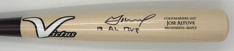 "Jose Altuve ""17 AL MVP"" Autographed Game Model Victus Bat"