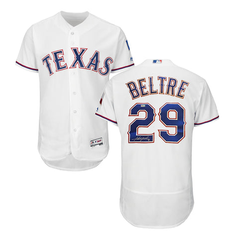 Adrian Beltre Autographed White Rangers Jersey